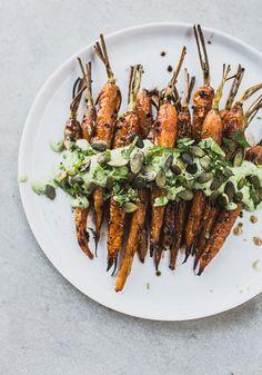 Roasted Carrots with Black Garlic & Herb Yoghurt 3