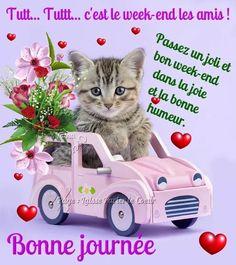Bon Weekend, Bon Week End Image, Emoji, Animals, Buen Dia, Thinking About You, Happy Birthday Video, Birthday Humorous, Morning Humor