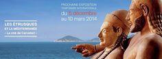 """■ Expo """"Les Étrusques et la Méditerranée, la cité de Cerveteri"""" au Louvre-Lens, du 5 décembre 2013 au 10 mars 2014."""