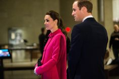Prince William, Duke of Cambridge (3R) and Catherine, Duchess of Cambridge (R) look on during a tour to the National September 11 Memorial & Museum on December 09, 2014 in New York City.  The couple, who are traveling without their son Prince George, are on a three-day US east coast visit. This is the Duke and Duchess' first official visit to New York City.