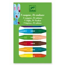 Djeco 8 Crayons 16 Colours - Toys and Games Ireland