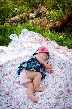 baby girl photo shoot Hello spring time photo shoot