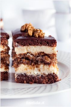 Ciasto Marysieńka – I Love Bake – Cake Types Polish Desserts, Polish Recipes, Cookie Desserts, Sweet Desserts, Sweet Recipes, Pastry Recipes, Cake Recipes, Dessert Recipes, Cake Bars