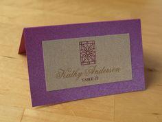 Rookery - Flower Escort Card   by ericksondesign