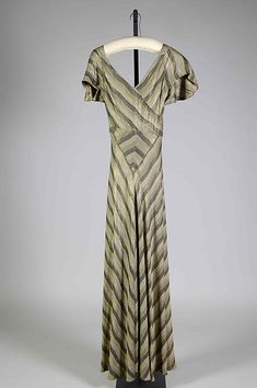 Elizabeth Hawes  Evening dress  American 1935 Silk Metallic