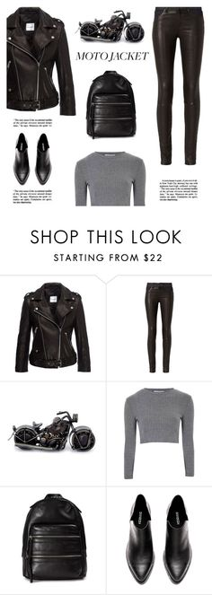 """Moto Jacket #206"" by vbasianioti ❤ liked on Polyvore featuring Anine Bing, rag & bone, NOVICA, Glamorous and Marc Jacobs"