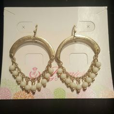 """Premier Designs """"Pompeii"""" Earrings Matte gold tone fishhook earrings with glass and acrylic beads. Never worn. This item is no longer available in the Premier Designs catalog. Quarter pictured for size reference. Premier Designs Jewelry Earrings"""