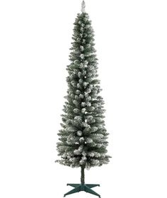 buy green snow tipped pencil christmas tree 6ft at argoscouk - Buy Christmas Tree Online