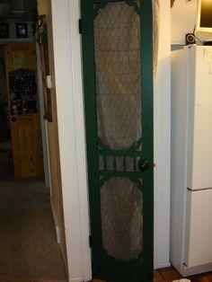 Chicken wire pantry door