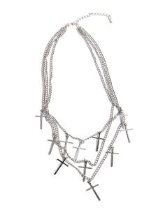 Chained Crosses Necklace
