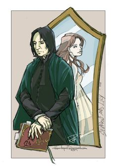 That makes me think of what would snape see in the mirror of erised, beautiful. Severus And Lily by Robbertopoli.deviantart.com on @DeviantArt