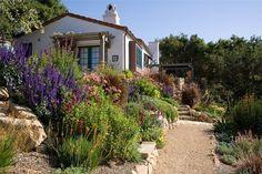 Crushed Gravel Path Southern California Landscaping Grace Design Associates Santa Barbara, CA