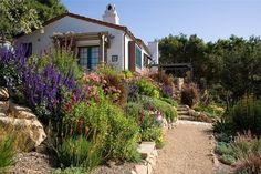 Crushed Gravel Path Southern California Landscaping Grace Design Associates Santa Barbara, CA