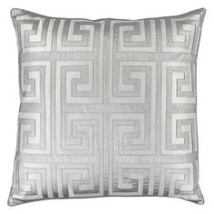 "Mykonos Pillow 24"" - Silver | Pillows | Bedding-and-pillows | Z Gallerie"