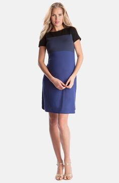 Seraphine+'Glinda'+Colorblock+Maternity+Shift+Dress+available+at+#Nordstrom