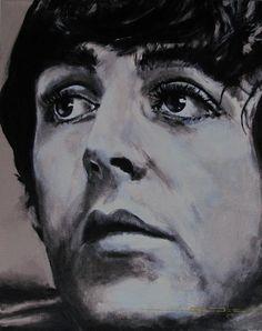 Mccartneys Eyes Painting  - Mccartneys Eyes Fine Art Print by Eric Dee
