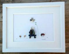 Pebble art couple Couple gift Perents gift 3d by pebbleartSmiljana