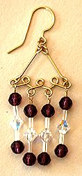 Milwaukee Earrings Jewelry Making Project made out of beads, jewelry wire, and jewelry supplies using WigJig jewelry tools.