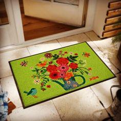 """Gefällt 27 Mal, 1 Kommentare - by Kleen-Tex (@wash_and_dry_floorfashion) auf Instagram: """"Nichts wie raus in den Garten so lange es noch nicht ganz so heiß ist und man im Schatten in der…"""" Terrace Garden, Rugs, Flowers, Design, Space, Home Decor, Instagram, Shadows, Garten"""