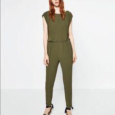 Zara Collection Jumpsuit Shoulder Zipper Sz. Sm