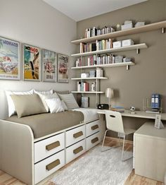 Bedroom Designs With Creative Storage Ideas for Teens Room