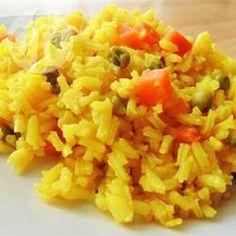 Kurkuma Reis mit Möhren und Erbsen @ de.allrecipes.com