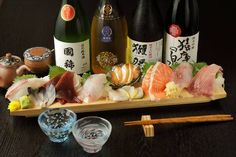 Sachimi is sliced raw fish such as tuna, shirimp and cuttlefish. Cuttlefish, Japanese Food, Fresh Rolls, Tuna, Sushi, Ethnic Recipes, Japanese Dishes, Solar Eclipse, Sushi Rolls
