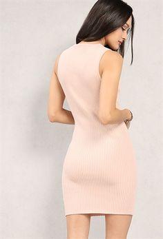 PEDIDOS SOLO POR #ENCARGO  #LookBookMayo2017  Código: PC-10 Ribbed Lace-up Mini Dress Color: Dusty pink  Talla: M-L  Precio: ₡22.500  Whatsapp ☎ 8963-3317, escribir al inbox Envíos a todo el país. #MayaBoutiqueCR