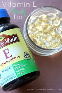 I Use Vitamin E every night and every morning under my eyes. I have noticed huge improvement and hear it is ancient secret of beauty. All you do is pop open a pill and squeeze on your finger and rub upward on your face under your eyes. I also use it on my fingernails to improve my cuticles. I should mention what kind is best to use on your skin. A lot of brands (including the one pictured) are synthetic.