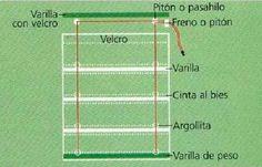 Mónica Diseños: Cómo hacer una cortina romana