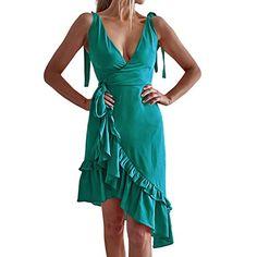 2019 Women Mini Dress Short Sleeve Polka Dot Print High Waist Ruffled Dress Evening Prom Party Dress Nmch