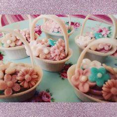 Mini cesta de flores