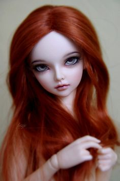 balljointeddolls:    Red Cameo by frezje on Flickr.Via Flickr:  I have this wig which I try on all my dolls. I don't know if it is the wig or the dolls but every time it seems to be perfect