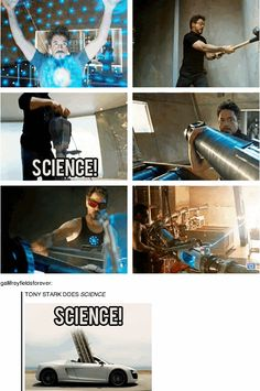 Stand back! Tony Stark's about to do Science! (best gif set ever)
