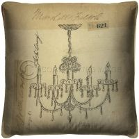 Vintage Chandelier for the Library Pillow