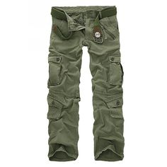 28.52$  Buy now - http://dis7m.justgood.pw/go.php?t=175611727 - Multi-Pocket and Zipper Embellished Straight Leg Men's Loose Fit Cargo Pants 28.52$