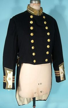 """c. 1900-1914 British Royal Naval Officer's Special Full Dress Uniform Jacket or """"Coatee"""" with Tails"""