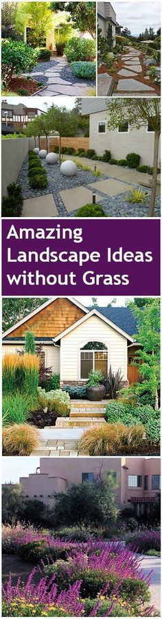 Amazing Landscape Ideas without Grass                                                                                                                                                                                 More