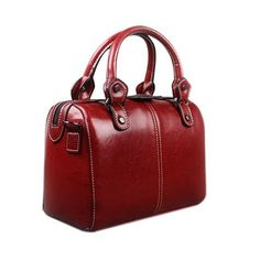 bag high quality on sale at reasonable prices, buy Real Cow Leather Ladies Women Genuine Leather Handbag Shoulder Bag High Quality Designer Luxury Brand Boston Crossbody Bag Totes from mobile site on Aliexpress Now! Handbags On Sale, Luxury Handbags, Purses And Handbags, Wholesale Handbags, Leather Purses, Leather Handbags, Leather Bags, Leather Totes, Women's Handbags