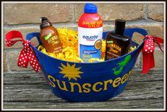 Personalized  Bucket  Beach Sunscreen Beach by timestotreasure