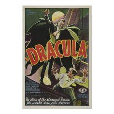 Dracula! Vintage Movie Poster - vintage gifts retro ideas cyo