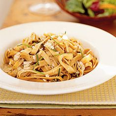Five & Dine: Main Dish Recipes    Creamy Fettuccine with Porcini Mushrooms   MyRecipes.com