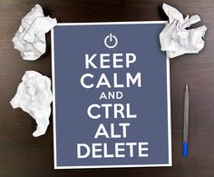 Keep Calm Office Print // Ctrl Alt Delete // Computer Humor Art // 8 x 10 Print on Etsy, $15.00