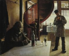 French Wine Bar - Eero Järnefelt , 1888 Finnish, oil paint on canvas, 61 x 74 cm Inspirational Artwork, Helene Schjerfbeck, Chur, Gloomy Sunday, Wine Merchant, French Wine, Golden Age, Art History, Hd Wallpaper