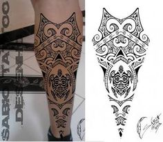 Картинки по запросу tattoo maori perna