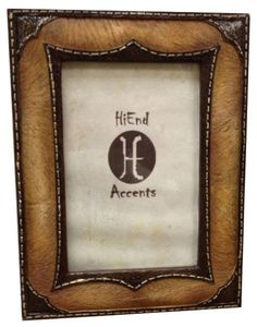 """Leather Overlay Look Photo Frame - 4"""" x 6"""" - Sheplers"""