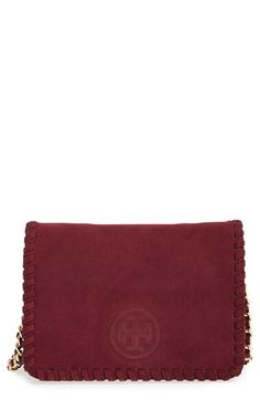 Tory Burch Tory Burch 'Marion' Suede Crossbody Bag available at #Nordstrom