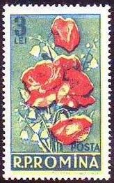 Romania, 1956. Flowers - Convallaria majalis Lily Of The Valley, Postage Stamps, Romania, Painting, Art, World, Door Bells, Stamps, Flowers