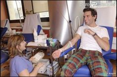 MIKA donating blood at a hospital in Milan Dec 2010 ♥
