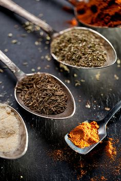 spices for a chili powder mix #foodphotography